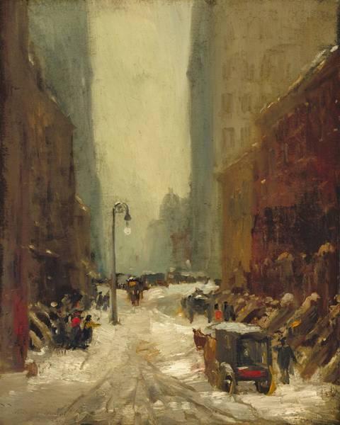 Manhattan Skyline Painting - Snow In New York by Robert Henri