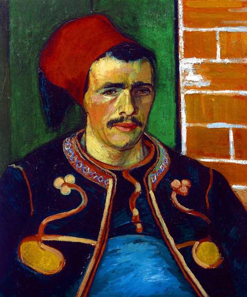 Infantryman Wall Art - Painting - The Zouave by Vincent Van Gogh