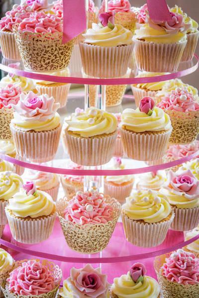 Photograph - Cupcake Wedding Cake. by Maggie McCall