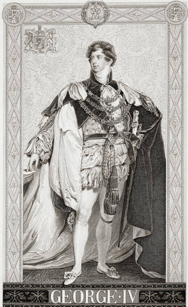 Wall Art - Drawing - George Iv, 1762-1830. King Of Great Britain And Ireland by Ken Welsh