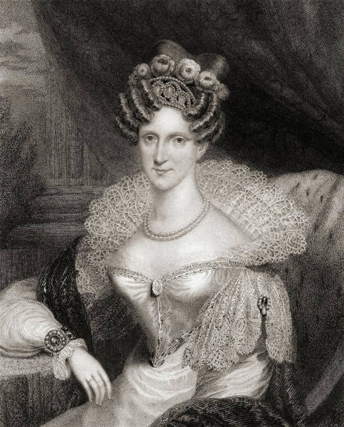 Wall Art - Drawing - Amelia Adelaide Louise Therese Caroline Of Saxe-coburg Meiningen, 1792-1849.  Aunt To Queen Victoria by Ken Welsh