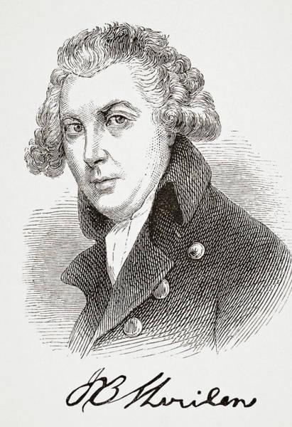Wall Art - Drawing - Richard Brinsley Sheridan, 1751- 1816.  Anglo-irish Dramatist And Politician. by Ken Welsh