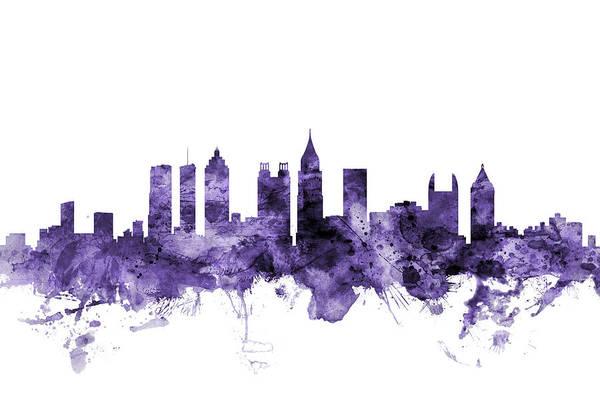 Atlanta Digital Art - Atlanta Georgia Skyline by Michael Tompsett
