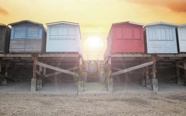 Wall Art - Photograph - Beach Huts by Martin Newman