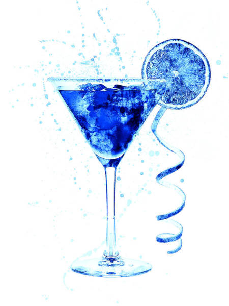 Wall Art - Digital Art - Cocktail Drinks Glass Watercolor by Michael Tompsett