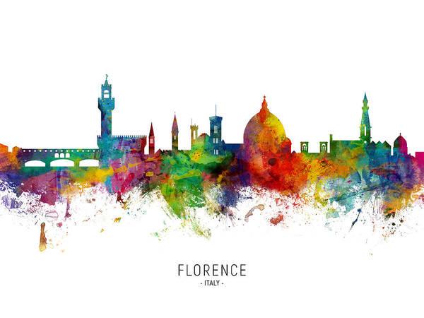 Wall Art - Digital Art - Florence Italy Skyline by Michael Tompsett