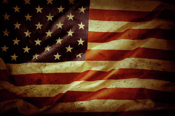 Wall Art - Photograph - American Flag No.185 by Les Cunliffe