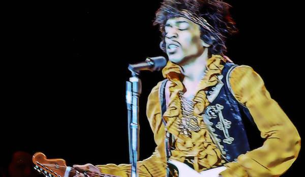 Mixed Media - Jimi Hendrix by Marvin Blaine