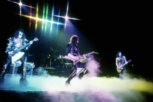 Kiss Performing Art Print by Michael Ochs Archives