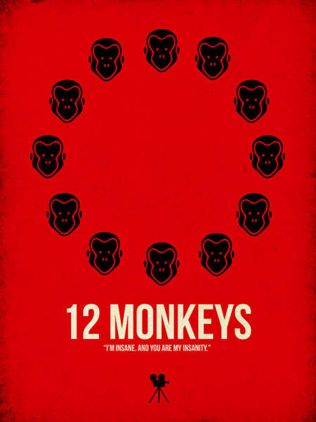 Wall Art - Digital Art - 12 Monkeys by Naxart Studio