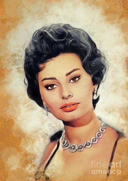 Wall Art - Painting - Sophia Loren, Vintage Movie Star by John Springfield