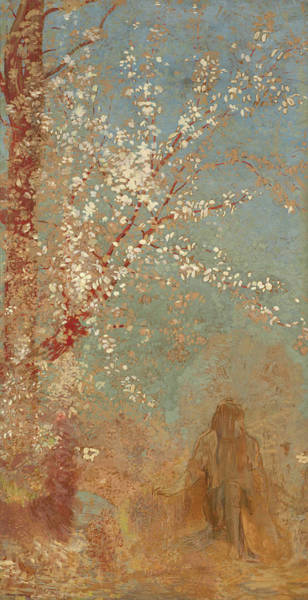 Wall Art - Painting - The Red Tree by Odilon Redon