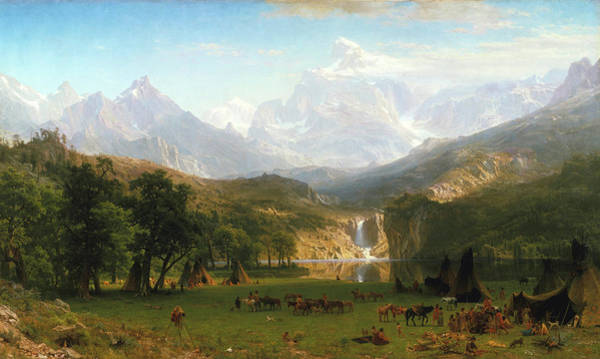 Painting - The Rocky Mountains, Lander's Peak by Albert Bierstadt