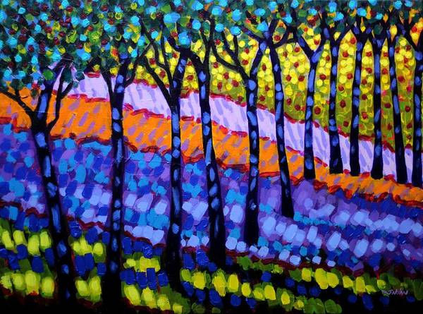 Wall Art - Painting - 12 Trees by John  Nolan