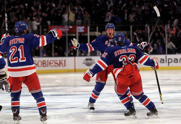 Nhl Photograph - Washington Capitals V New York Rangers by Bruce Bennett