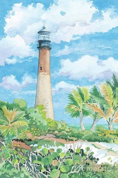 Wall Art - Painting - 1245 - Lighthouse Cape Florida by Paul Brent