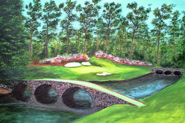 Augusta Masters Painting - 12th Hole At Augusta National by Ken Figurski