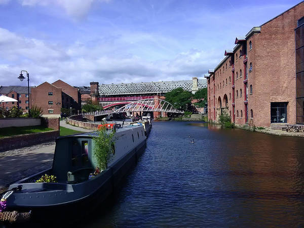 Photograph - 13/09/18  Manchester. Castlefields. The Bridgewater Canal. by Lachlan Main