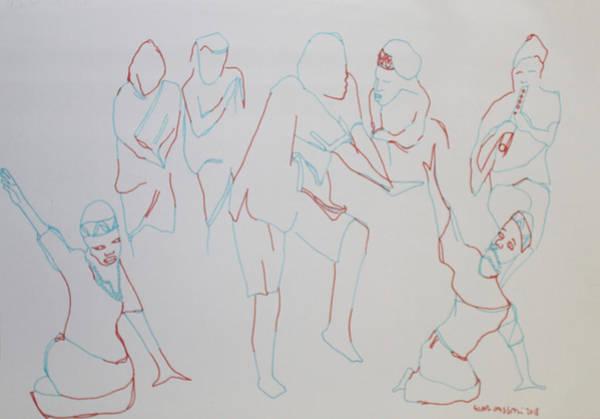 Painting - Bakiga Dance Uganda by Gloria Ssali