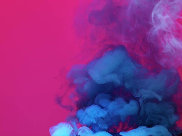 Vitality Photograph - Colored Smoke by Henrik Sorensen