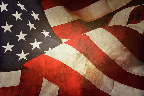 Wall Art - Photograph - American Flag No.186 by Les Cunliffe