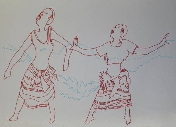 Painting - Kiganda Dance Uganda by Gloria Ssali