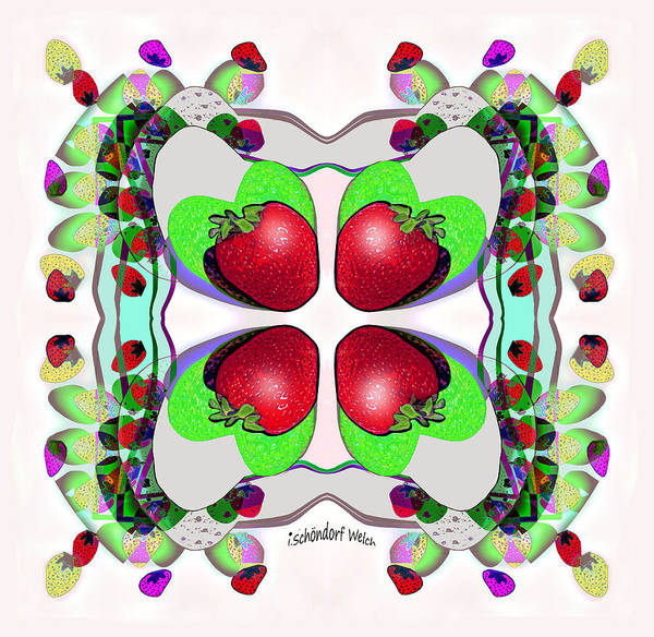 Delight Digital Art - 1315 Stawberry Delight V by Irmgard Schoendorf Welch