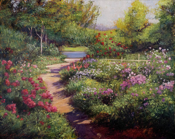 Painting - Path To The Still Lake by David Lloyd Glover