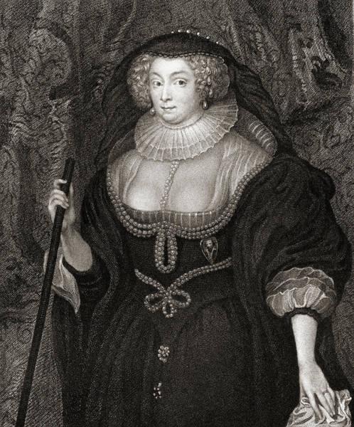 Wall Art - Drawing - Frances Howard, Duchess Of Richmond, Duchess Of Lennox, C.1578-1639 by Ken Welsh