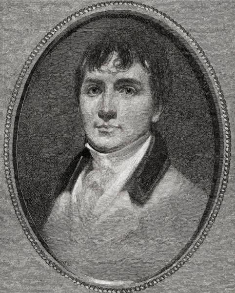 Wall Art - Drawing - Robert Burns, 1759 -1796. Scottish Poet And Lyricist. by Ken Welsh