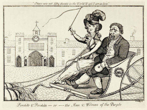 Wall Art - Drawing - Perdito And Perdita Or The Man And Woman Of The People by Ken Welsh