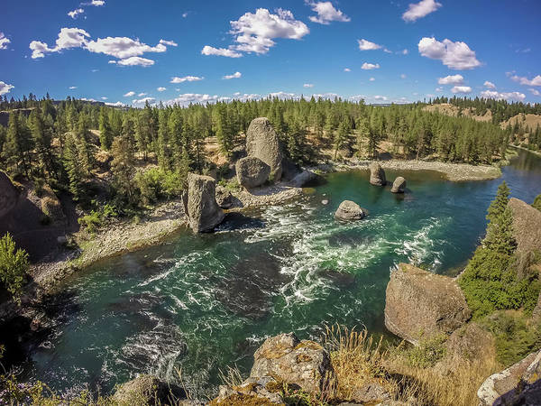 Photograph - At Riverside Bowl And Pitcher State Park In Spokane Washington by Alex Grichenko