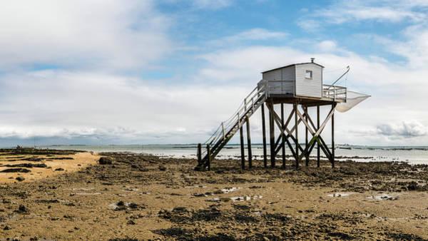 Photograph - boardwalk made of wood on a beach near La Rochelle by Stefan Rotter