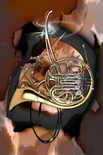 Mixed Media - French Horn by Marvin Blaine