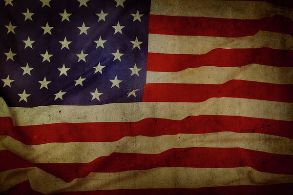 Wall Art - Photograph - American Flag No.187 by Les Cunliffe