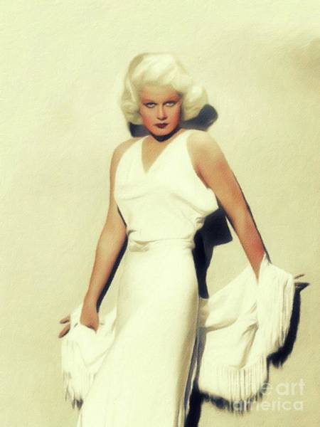 Wall Art - Painting - Jean Harlow, Vintage Movie Star by John Springfield