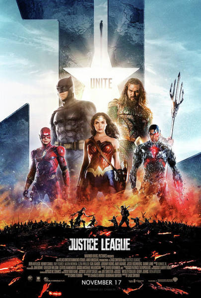 Wall Art - Digital Art - Justice League by Geek N Rock