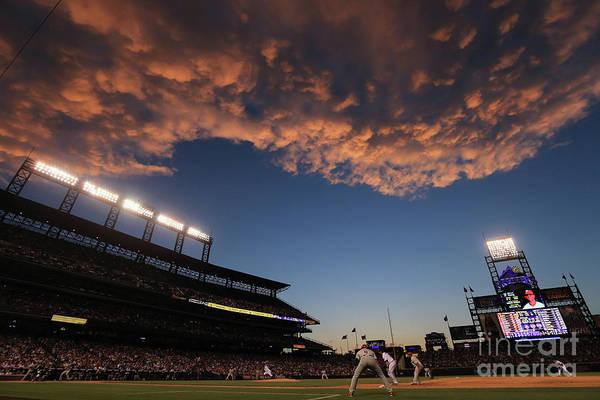 Photograph - Philadelphia Phillies V Colorado Rockies by Doug Pensinger