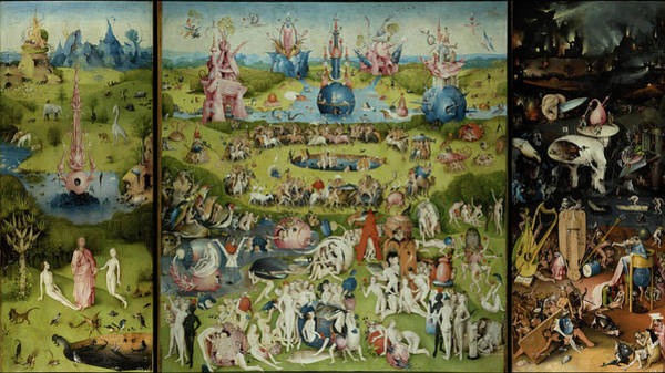 The Creation Of Adam Wall Art - Painting - The Garden Of Earthly Delights by Hieronymus Bosch
