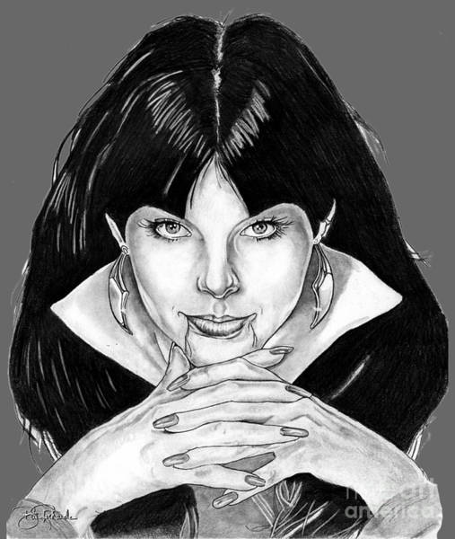 Drawing - Vampirella  by Bill Richards