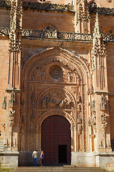 Wall Art - Photograph - Salamanca, Salamanca Province, Spain. Cathedral Door. by Ken Welsh