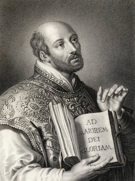 Wall Art - Drawing - Saint Ignatius Of Loyola, 1491-1556. Spanish Theologian And Jesuit  by Ken Welsh
