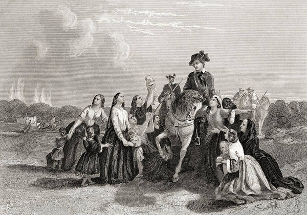 Wall Art - Drawing - Settlers Imploring Washington's Protection by Ken Welsh