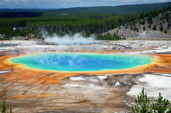 Photograph - 1485 Grand Prismatic Spring by Steve Sturgill