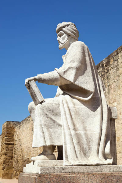 Wall Art - Photograph - Cordoba, Cordoba Province, Spain.  Statue Of Averroes, Muslim Polymath by Ken Welsh