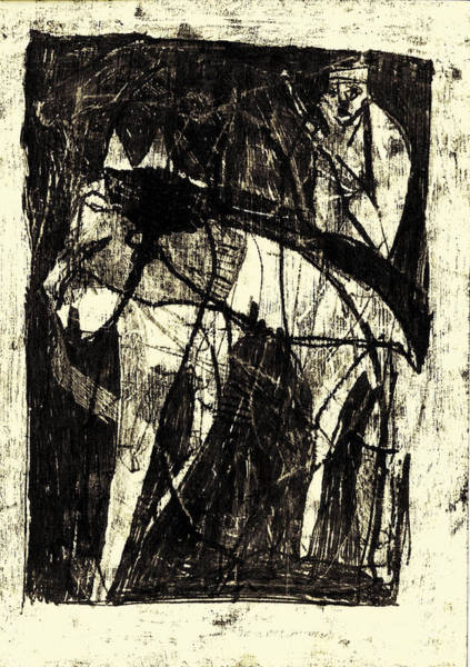Drawing - Black Ivory 1 Original Printmaking by Artist Dot