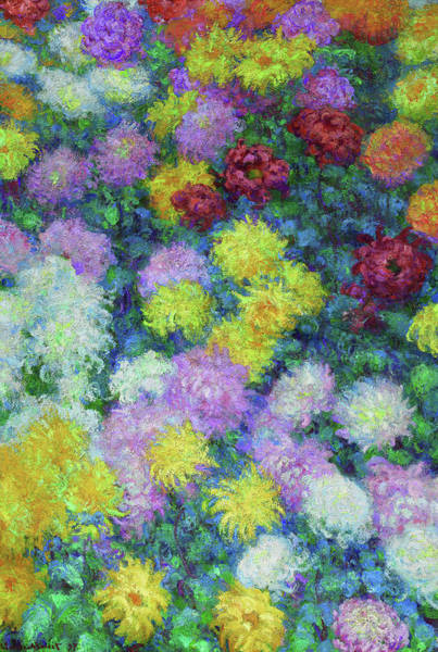 Wall Art - Painting - Chrysanthemums  by Claude Monet