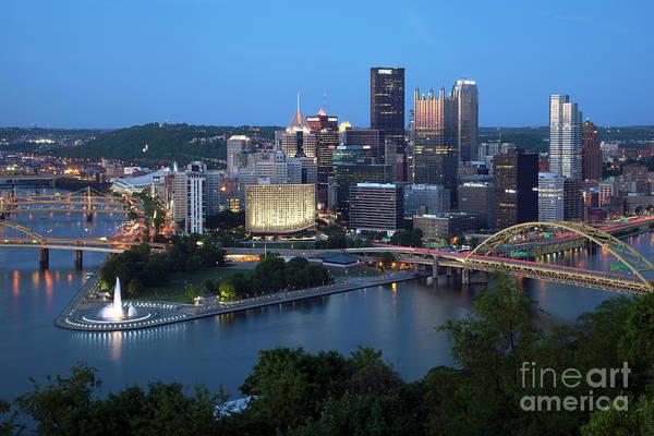 Wall Art - Photograph - Downtown Skyline Of Pittsburgh, Pennsylvania by Bill Cobb