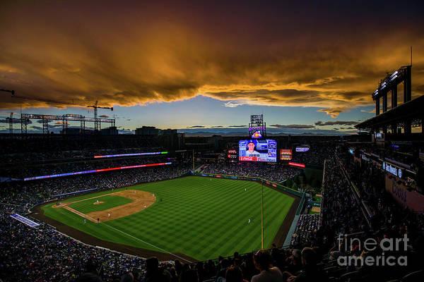 Photograph - Los Angeles Dodgers V Colorado Rockies by Justin Edmonds
