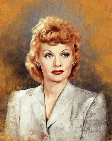 Wall Art - Painting - Lucille Ball, Vintage Actress by John Springfield